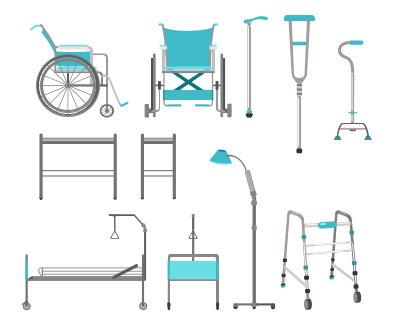 vector illustration of medical equipment