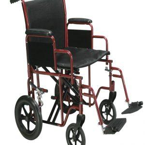 Heavy Duty Transport Chair - 22 inch Wide