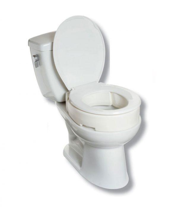 """4"""" Hinged Raised Toilet Seat"""